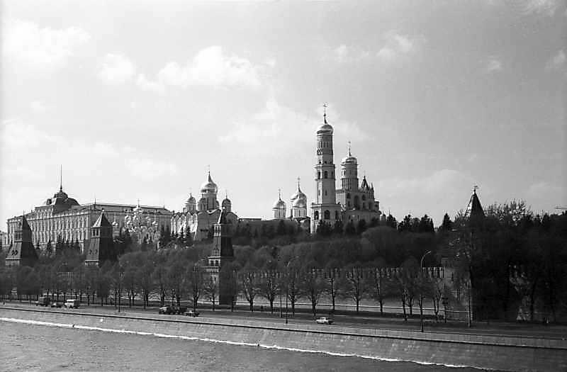 View of main square of Moscow Kremlin from the southeast, May 7, 1979.