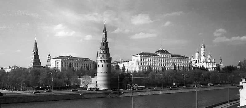 A view of Moscow Kremlin from Moscow River, May 7, 1979.
