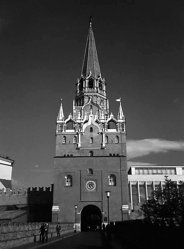 Троїцька башта московського Кремля. Фото 31 серпня 1981 р.