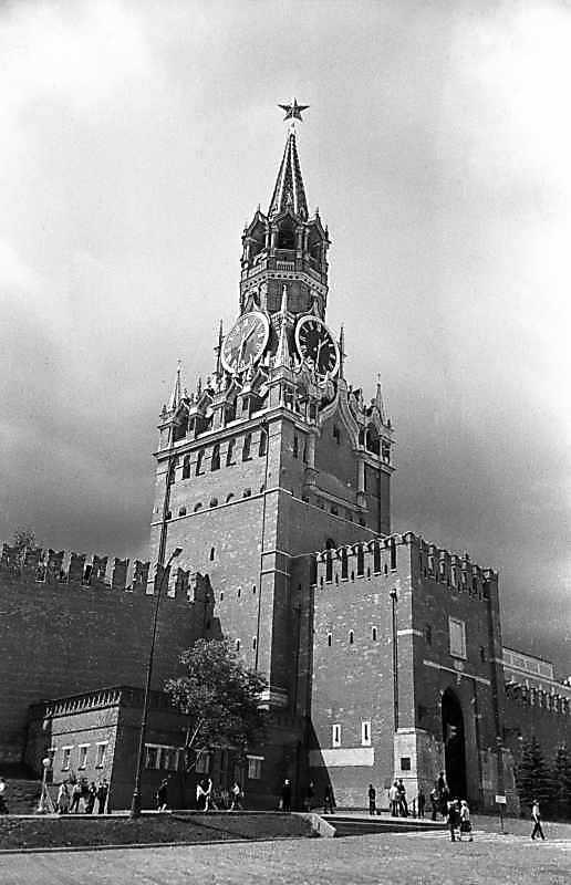 Спаська башта московського Кремля, фото 16 липня 1986 р.
