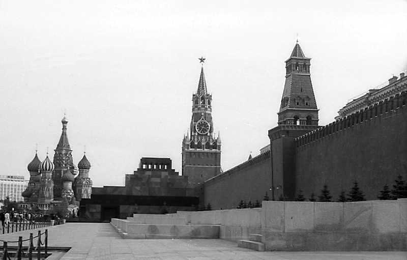 Східний оборонний мур московського Кремля, обернений до Червоної площі. Фото 6 вересня 1976 р.
