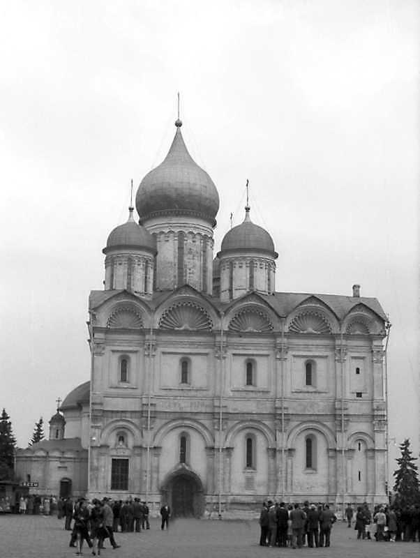 Архангельський собор московського Кремля. Вигляд з півночі. Фото 6 вересня 1976 р.