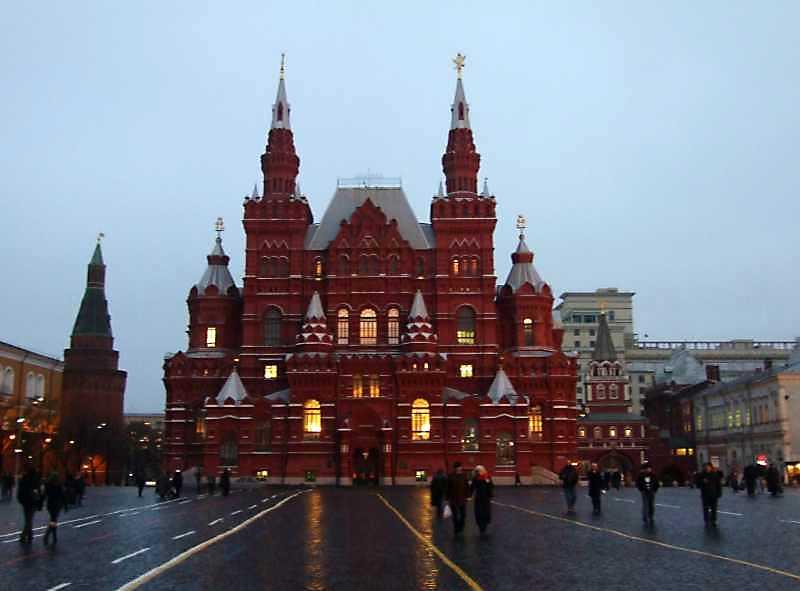 Історичний музей (Москва). Загальний вигляд. Фото 4 грудня 2008 р.