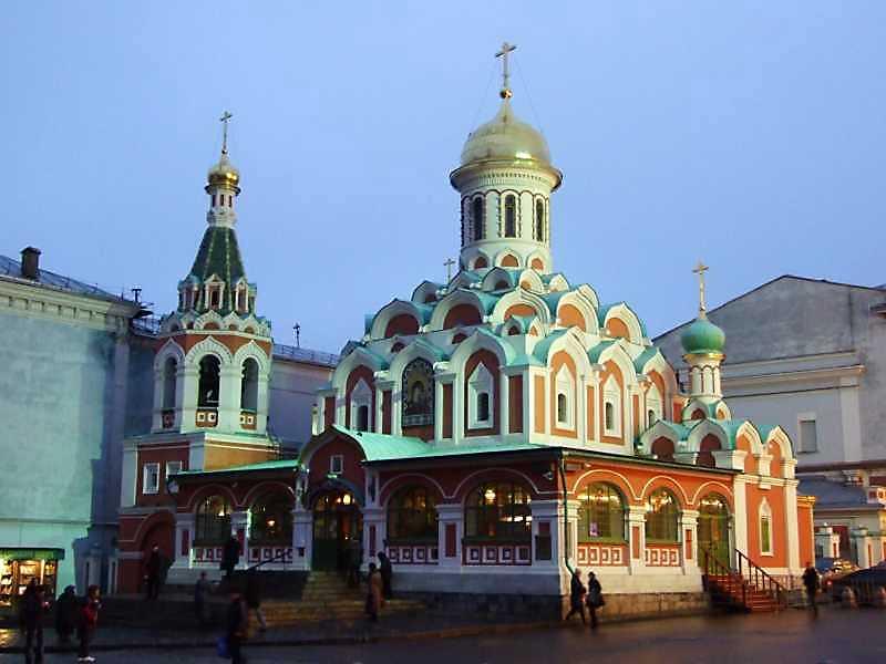 Собор Казанської ікони божої матері (Москва). Загальний вигляд. Фото 4 грудня 2008 р.
