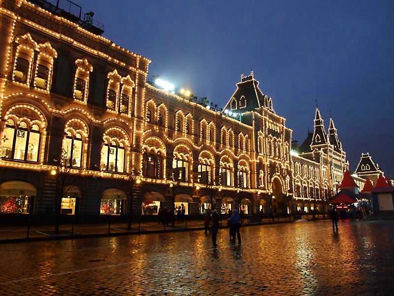 Державний універмаг (ГУМ, Москва). Загальний вигляд. Фото 4 грудня 2008 р.