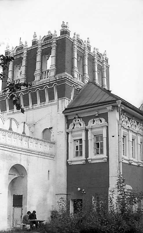 Башта і пристінні келії Новодівичого монастиря (Москва). Вигляд з південного заходу. Фото 6 вересня 1976 р.