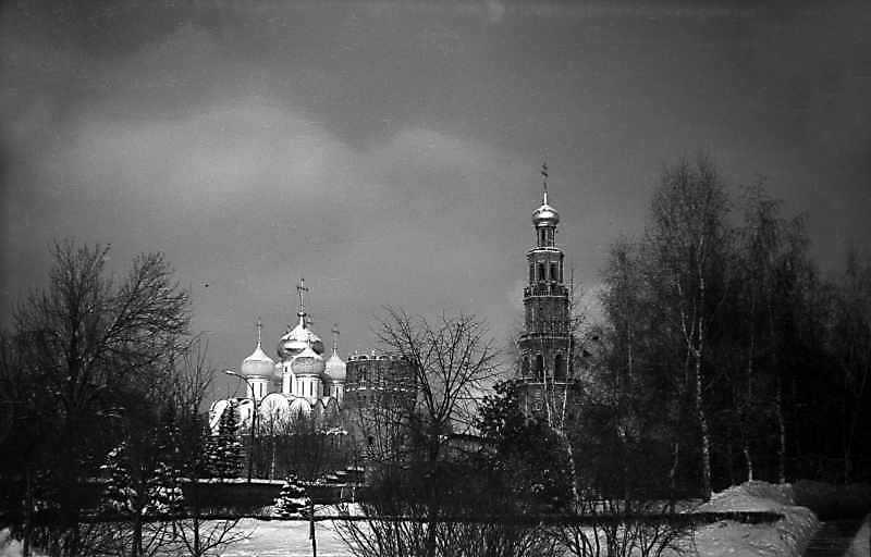 Загальний вигляд Новодівичого монастиря (Москва) з південного сходу. Фото 7 лютого 1977 р.