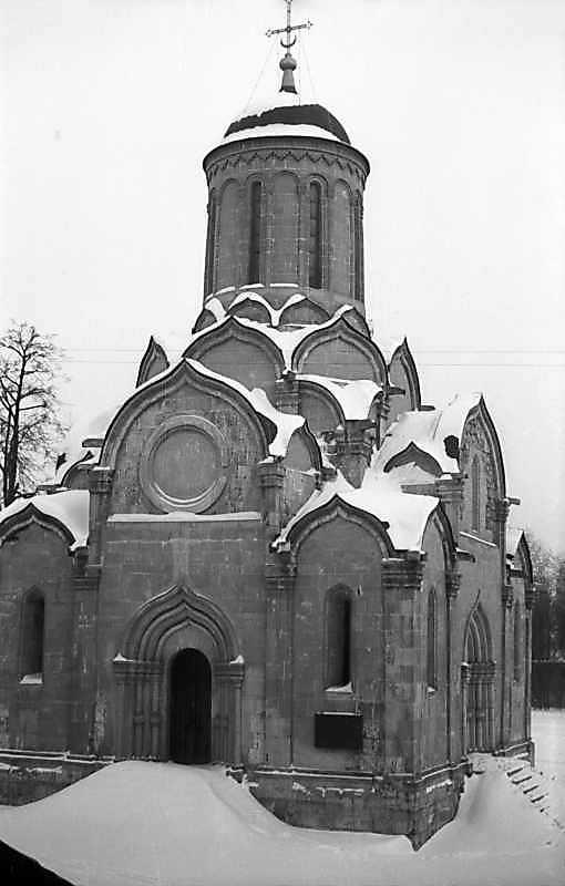Спаський собор Спас-Андроникова монастиря (Москва). Загальний вигляд із заходу. Фото 7 лютого 1977 р.