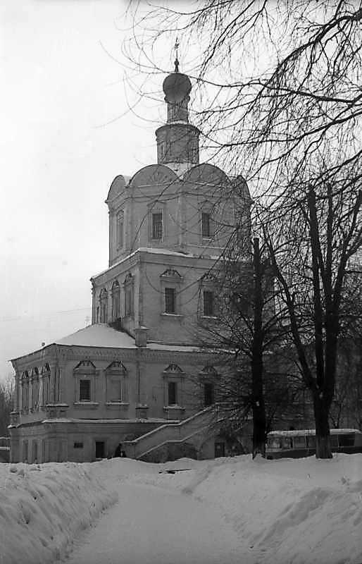 Церква св.архангела Михаїла Спас-Андроникова монастиря (Москва). Загальний вигляд з північного сходу. Фото 7 лютого 1977 р.
