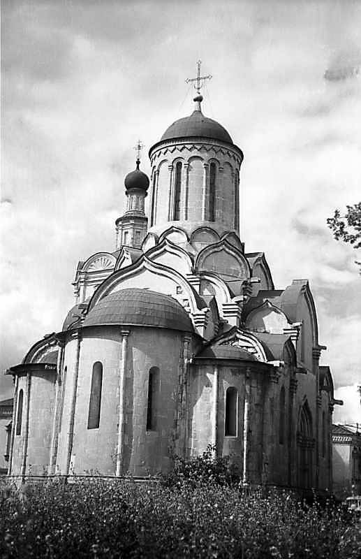 Спаський собор Спас-Андроникова монастиря (Москва). Загальний вигляд зі сходу. Фото 15 серпня 1977 р.