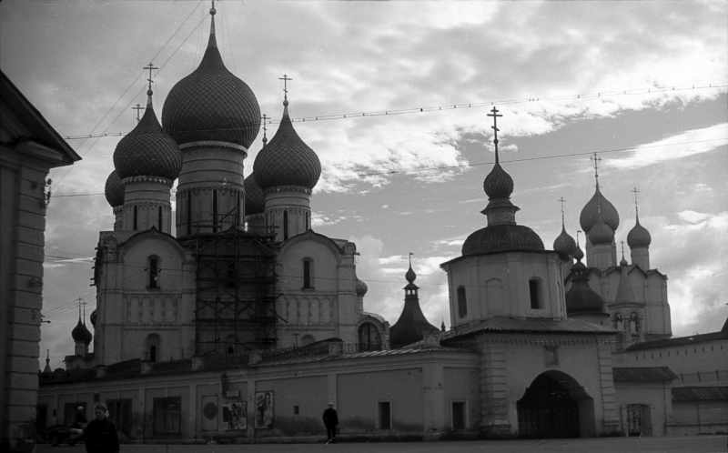Ensemble of the Dormition cathedral in Rostov. Photo 21 Aug 1976.