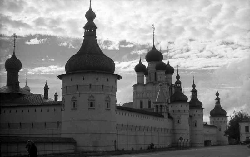 Kremlin in Rostov. North-west view at the morning. Photo 21 Aug 1976.