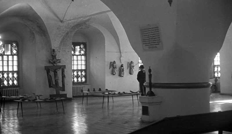 Interior of the White chamber in Rostov Kremlin. Photo 21 Aug 1976.