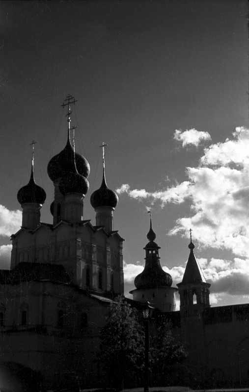 St. John the Divine church in Rostov Kremlin and belfry. Photo 21 Aug 1976.