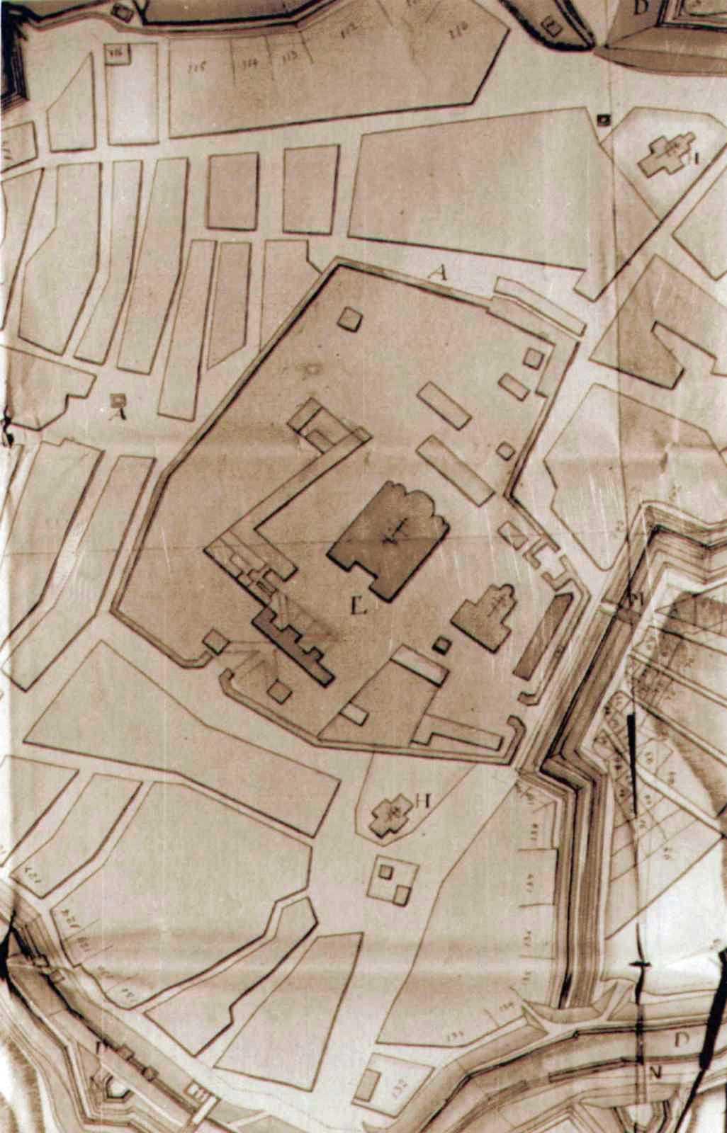 Фрагмент плану Києва бл. 1750 р.