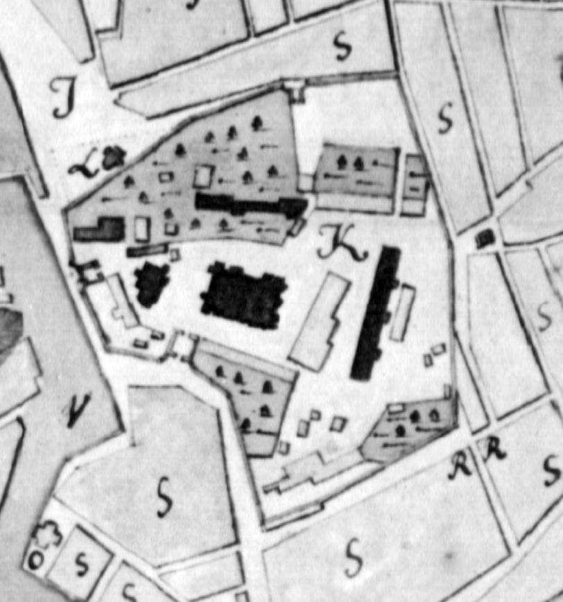 Фрагмент плану Києва 1774 р.