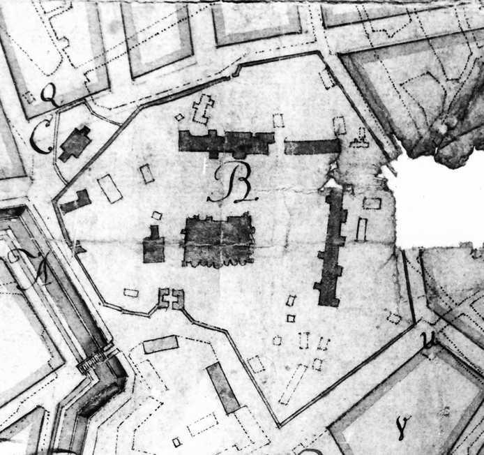 Фрагмент плану Києва 1787 р.