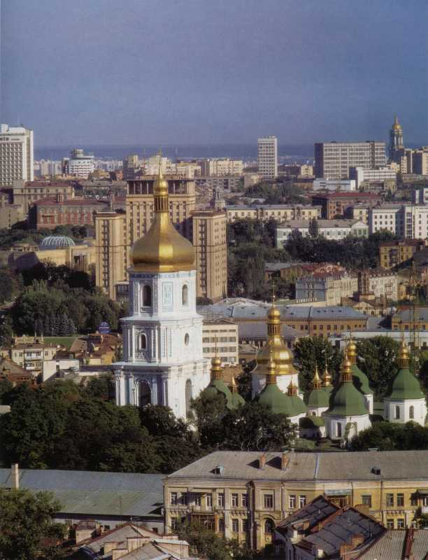 Вид Софійського ансамблю з північного заходу, 1980-і рр.