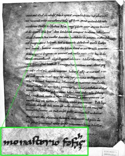 Сторінка хроніки Титмара зі згадкою монастиря св. Софії