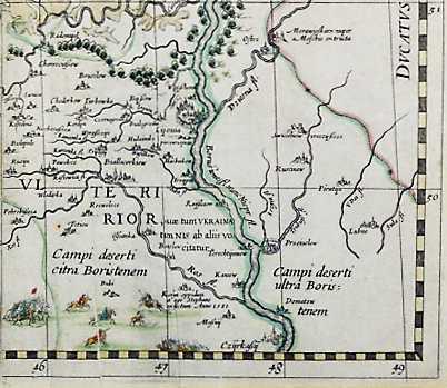 Терехтемиров на карте Т.Маковского 1631 г.
