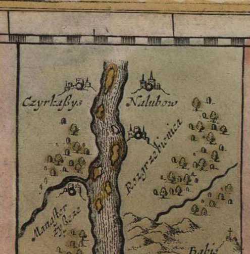 Монастир на карті Дніпра Я.Янсона 1646 р.