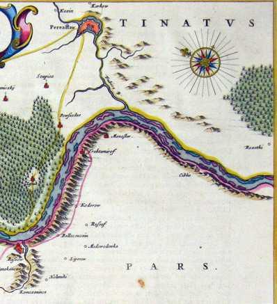 Терехтемирів на карті Боплана 1662 р.