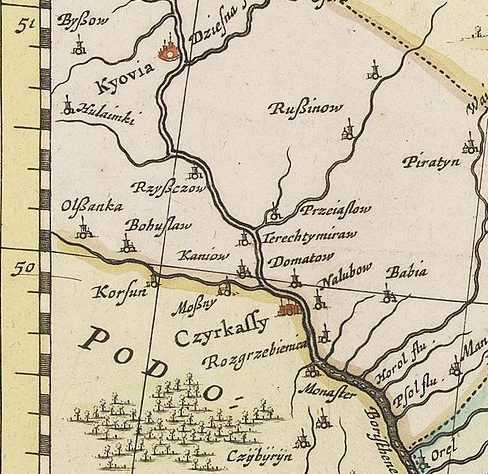 Терехтемирів на карті Я.Янсона 1681 р.