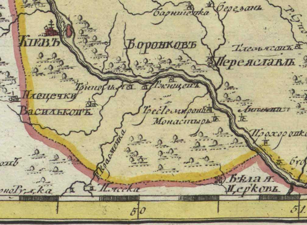 Терехтемирів на карті Смоленської губернії 1745 р.