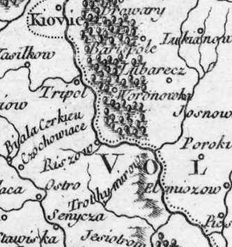 Терехтемирів на карті Вогенді 1749 р.