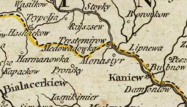 Терехтемирів на карті Кітчина 1790 р.